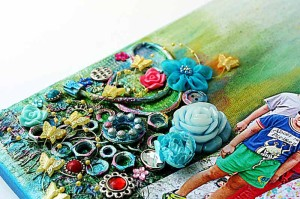 Inspired-by-pop-art-mixed-media-canvas-by-Yvonne-Yam-for-The-Crafter's-Workshop