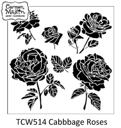 TCW514Cabbage Roses