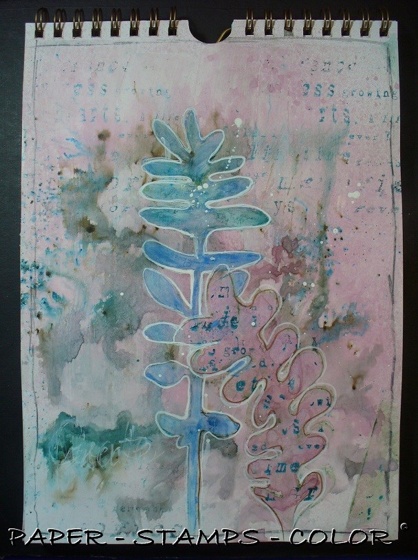 Art journal TCW leaves collage (2)