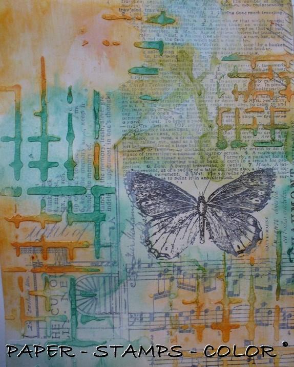 Art Journal Artofthe5th week20 texture modelling paste (5)