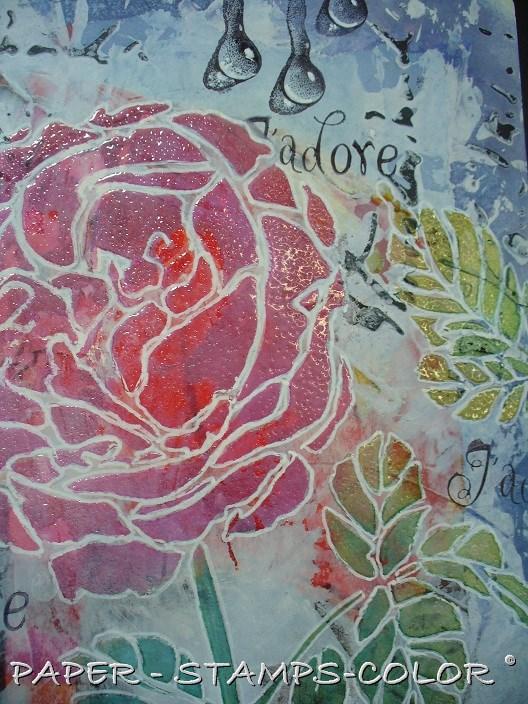 TCW tutorial artjournal roses love (8)