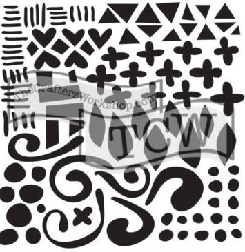 TCW593Doodled Pattern