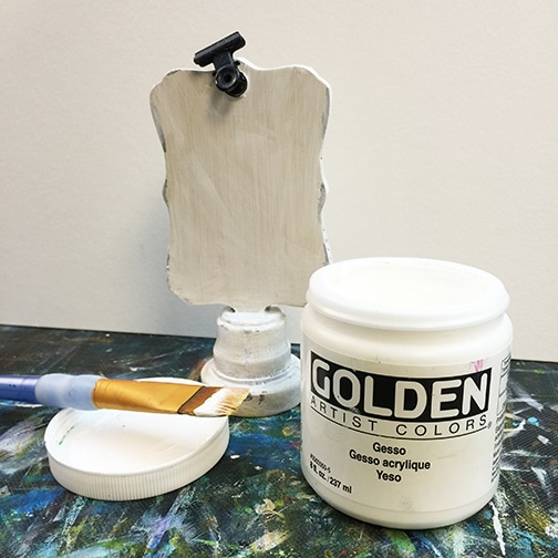 Gesso makes a great base for any kind of project!