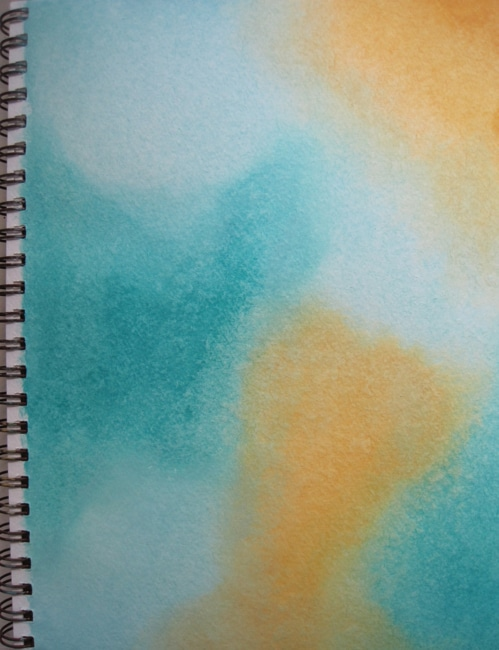 art journal background with blended acrylic paint LEFKO