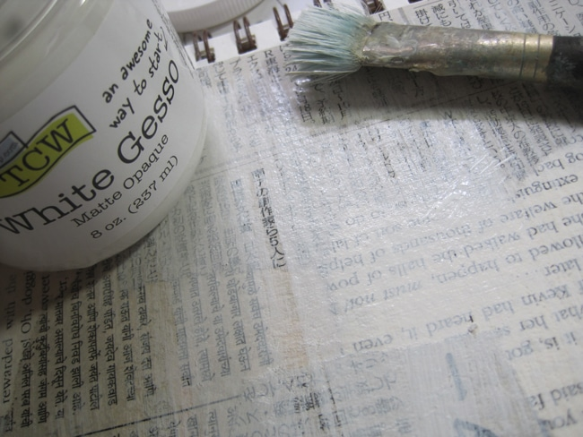 Dry brush with TCW white gesso LEFKO