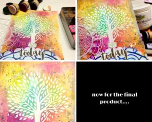 Distress inks and The Crafter's Workshop stencils