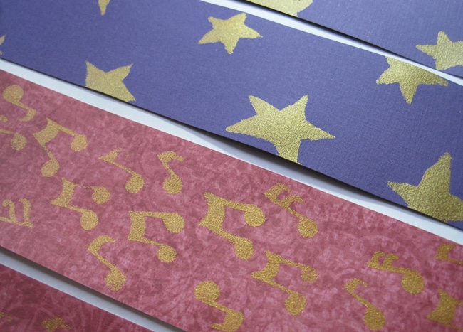 TCW655 and TCW2156 and gold gesso on decorative paper LEFKO