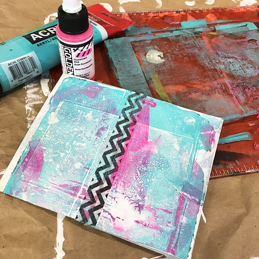 use your gelli plate to add a bit of color to your book!