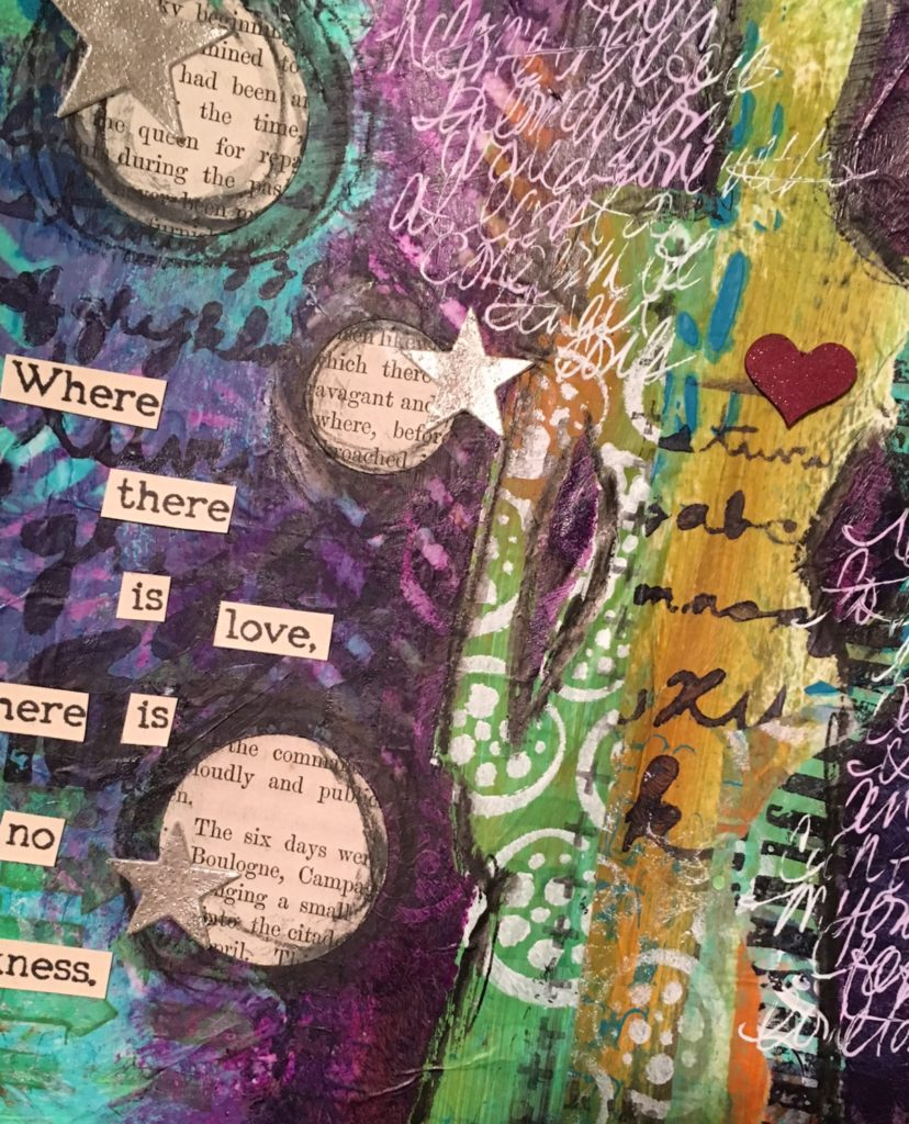 Kim Schofield, Love Wins, Art Journal, Sally and Carly, Chevron
