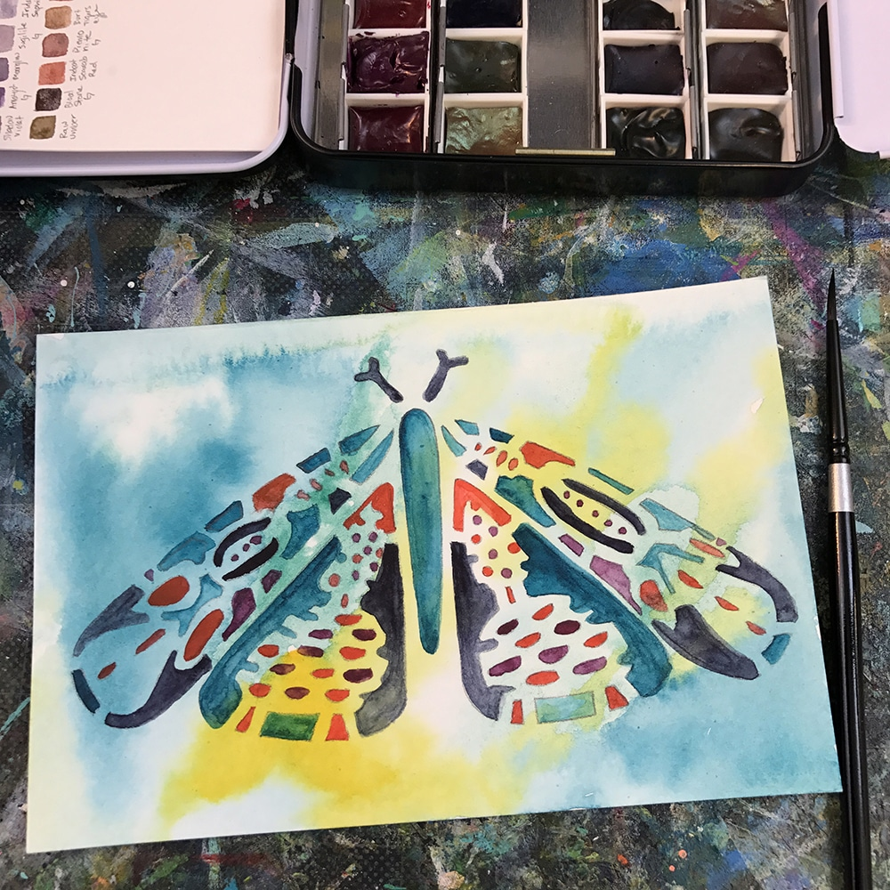 Finished Watercolor Butterfly