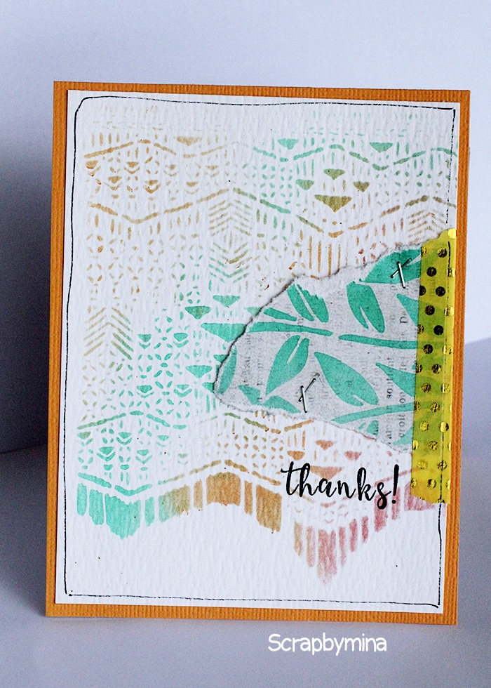 Easy Card with TCW670s Macrame & TCW658s Jungle Vines