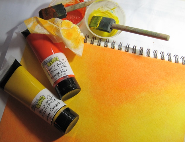 Blend TCW acrylics with baby wipes LEFKO