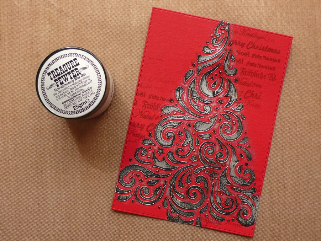 How to create an easy Christmas card featuring a Christmas tree design