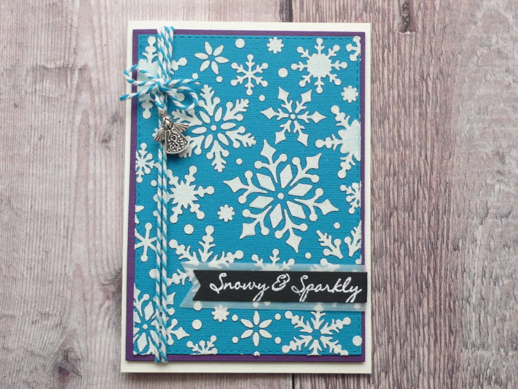 How to make easy glitter embossed Christmas cards