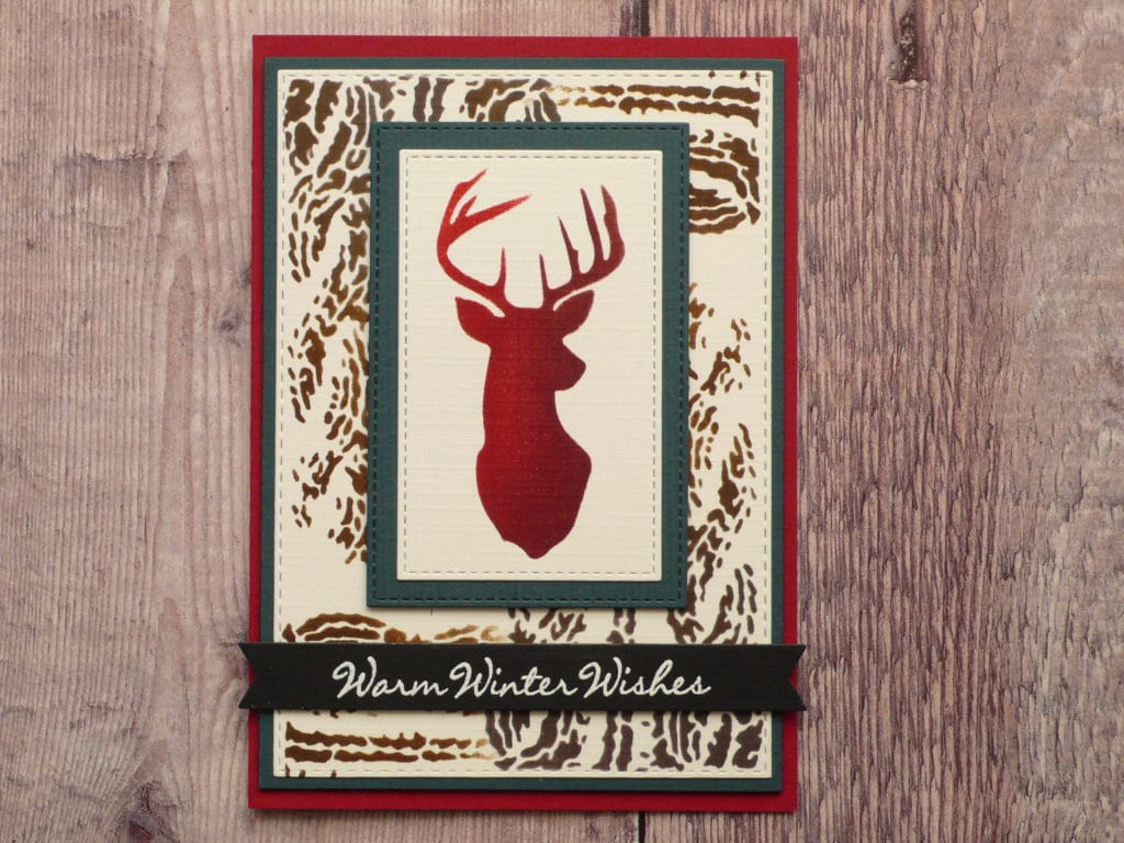 How to create masculine Christmas cards