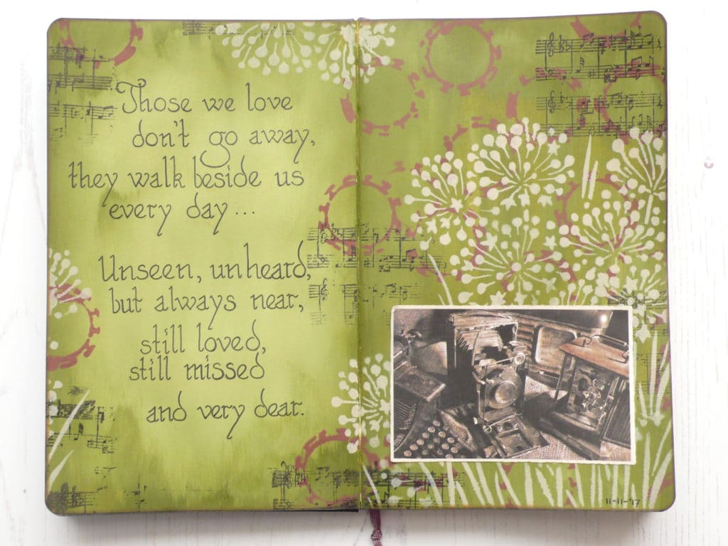 How to make a simple art journal page using minimum supplies