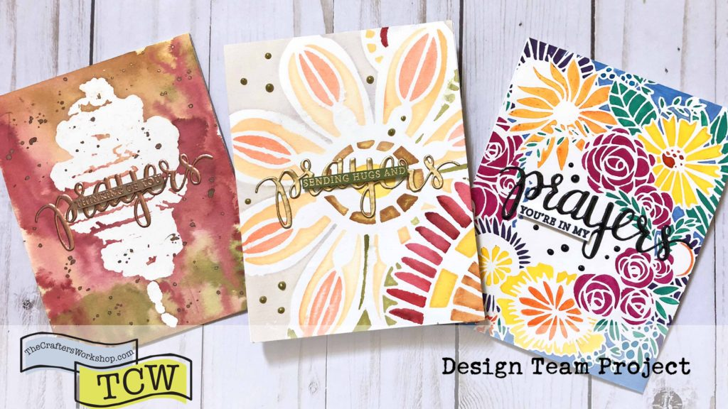 How to use Watercolor with Stencils without seeping!! It's easier than you think!! - A Video Tutorial
