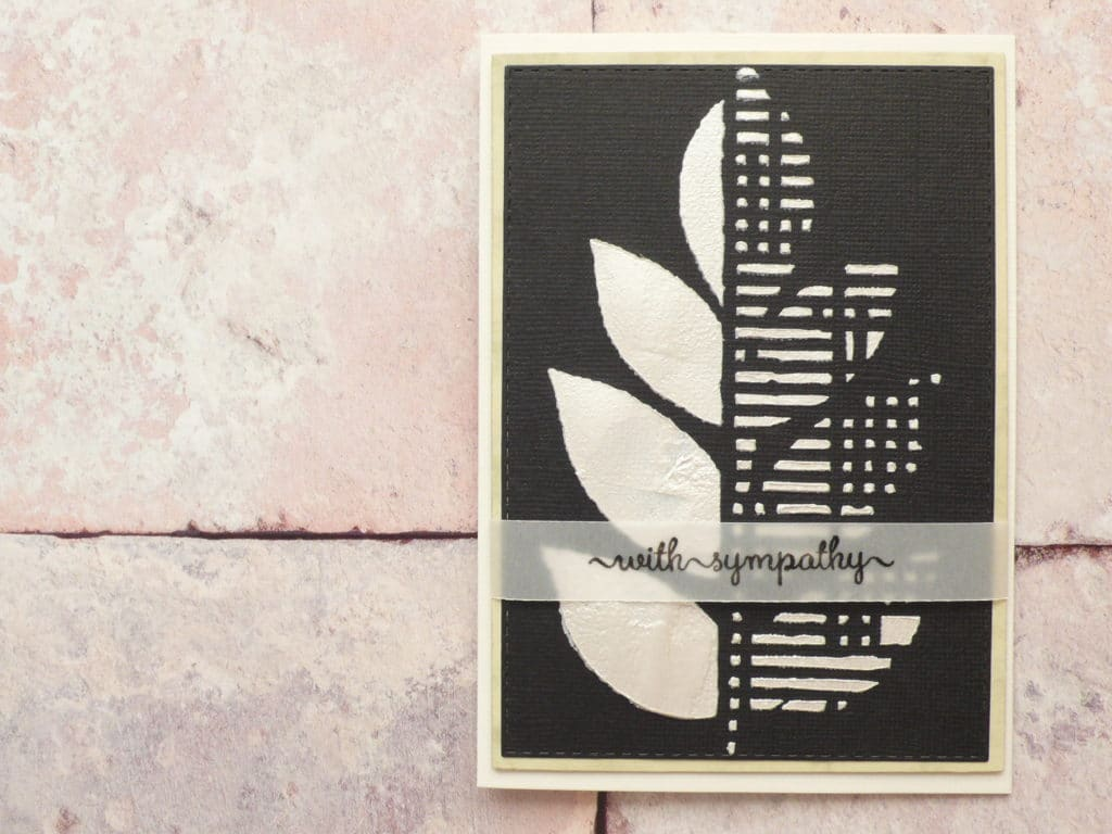 How the create classy sympathy cards using stencils