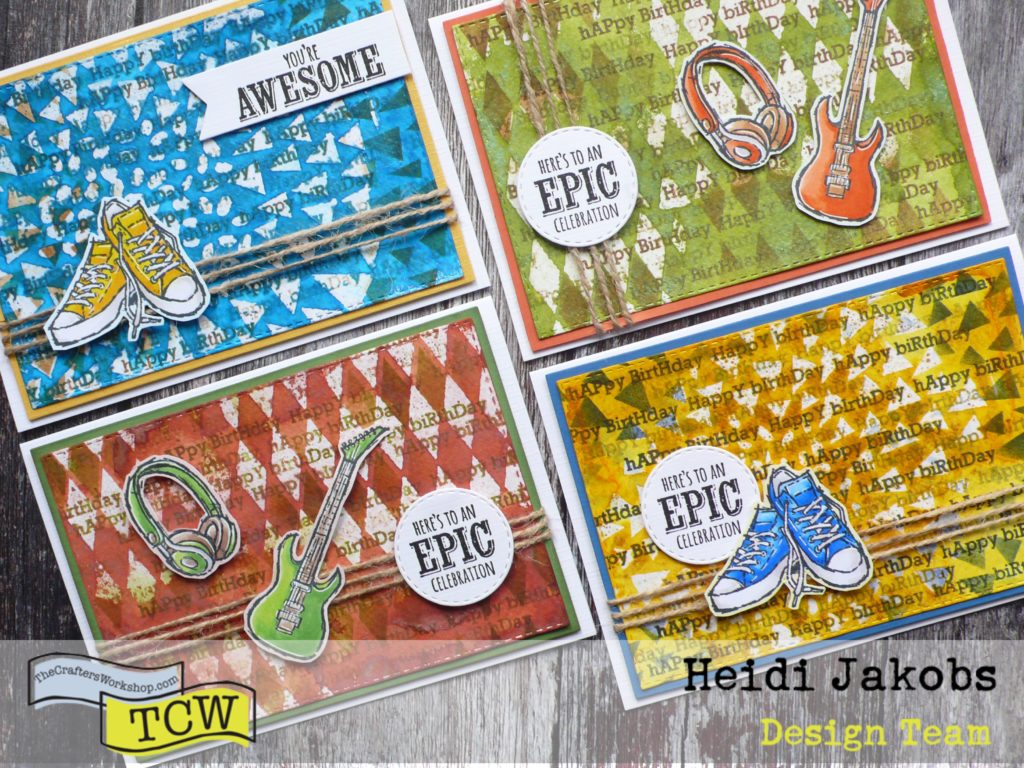 Step by step tutorial on how to create fun masculine cards