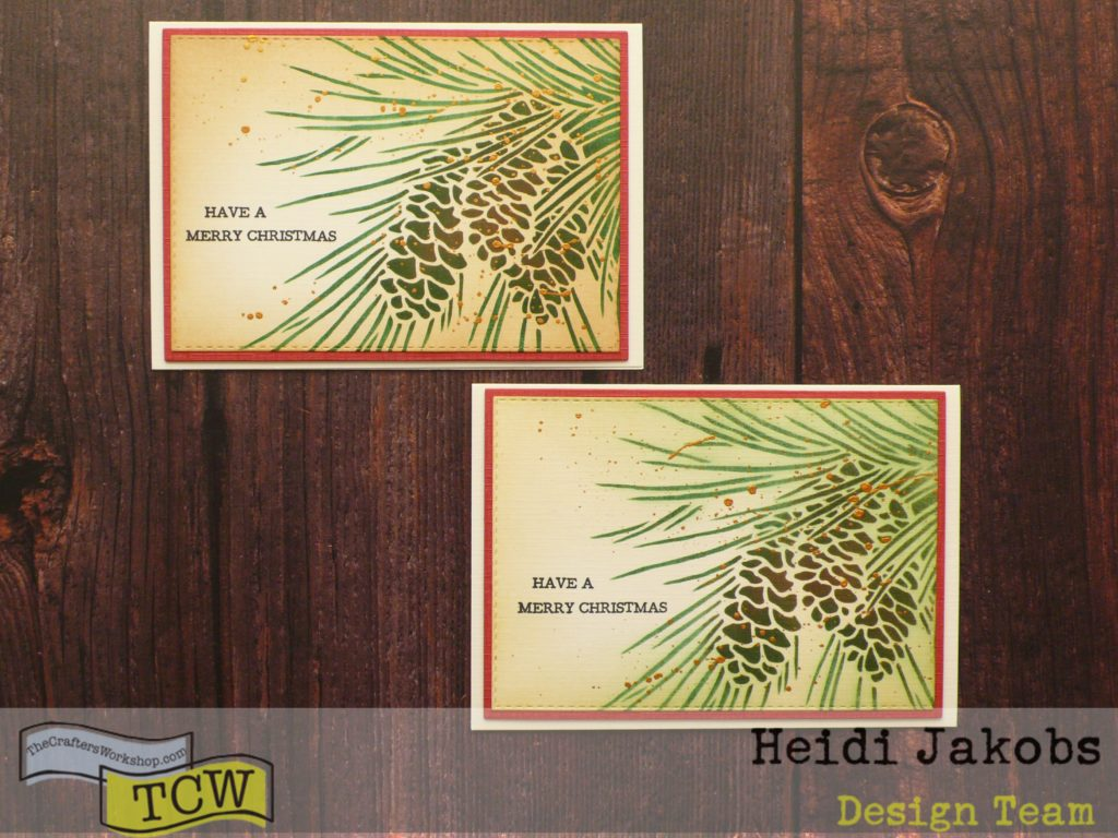 step by step tutorial on how to create easy Christmas cards