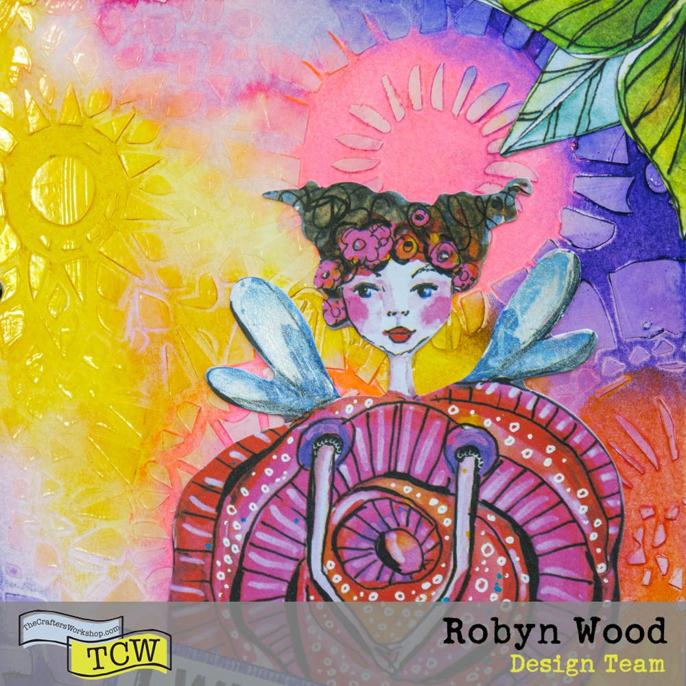 The Crafter's Workshop Blog Stenciling with Gel Medium Gloss by Robyn Wood