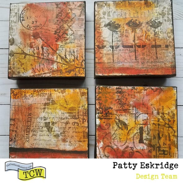 Patty_Eskridge_FOUR_MINI_CANVASES_for_The_Crafter's_Workshop