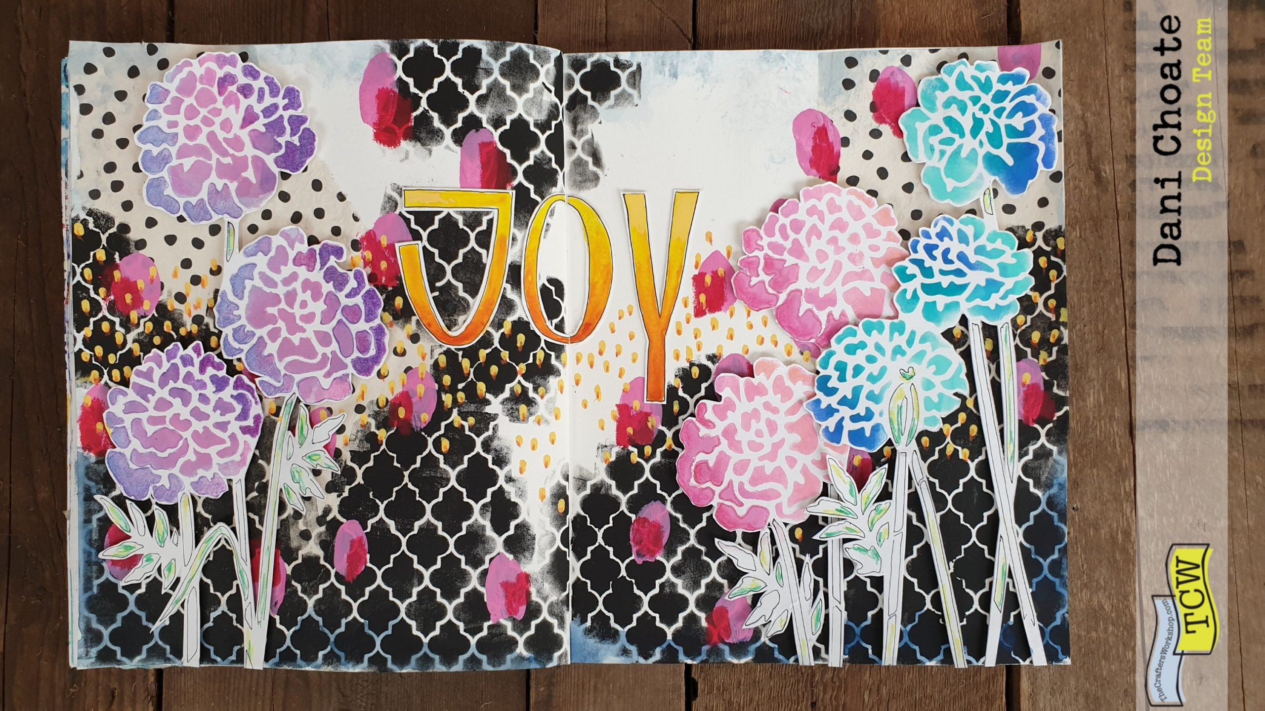Full art journal page with TCW861 and TCW5016