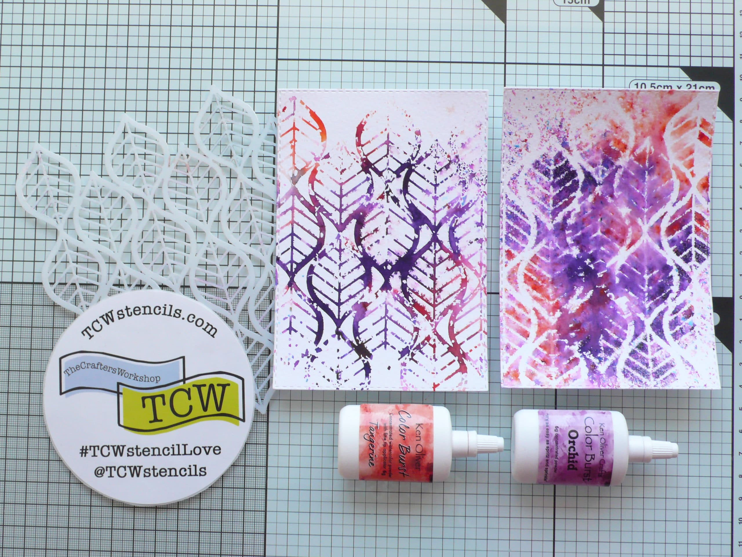 How to create fun and colourful backgrounds using stencils