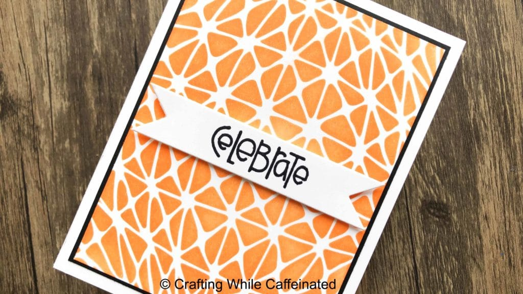 The new Geo Netting stencil is perfect for creating quick birthday cards! I love the optical illusion this stencil creates!
