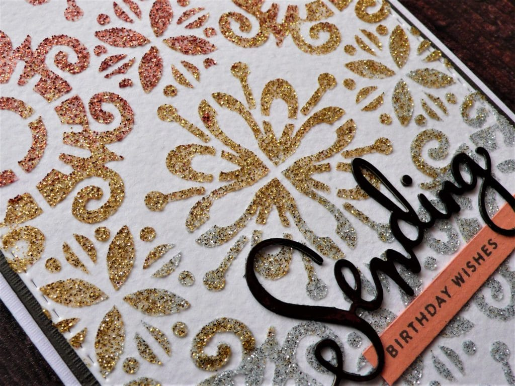 How to create fun glitter no mess card projects