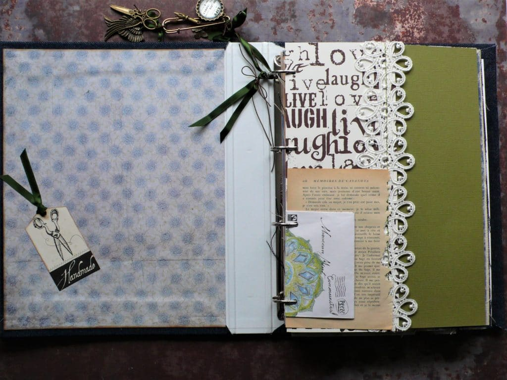 How to decorate a junk journal cover and create insert pages
