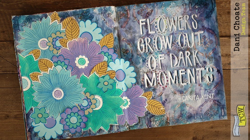 full art journal page - TCW907 pointelle
