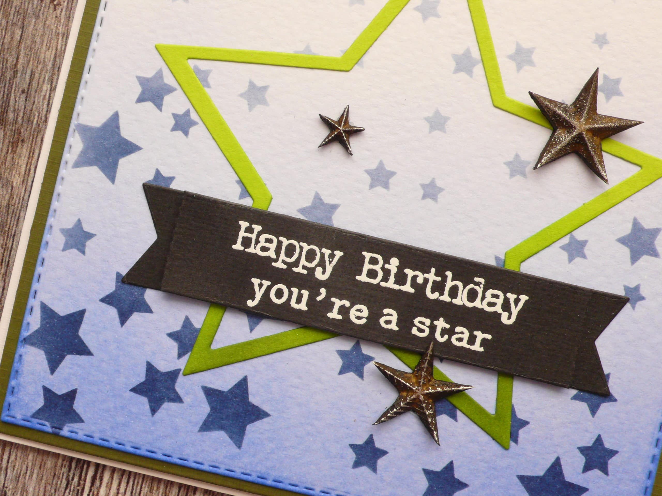 How to create a masculine card project step by step