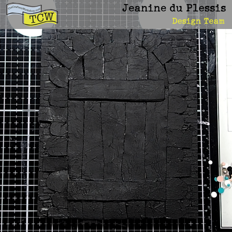 Project covered in Black gesso.