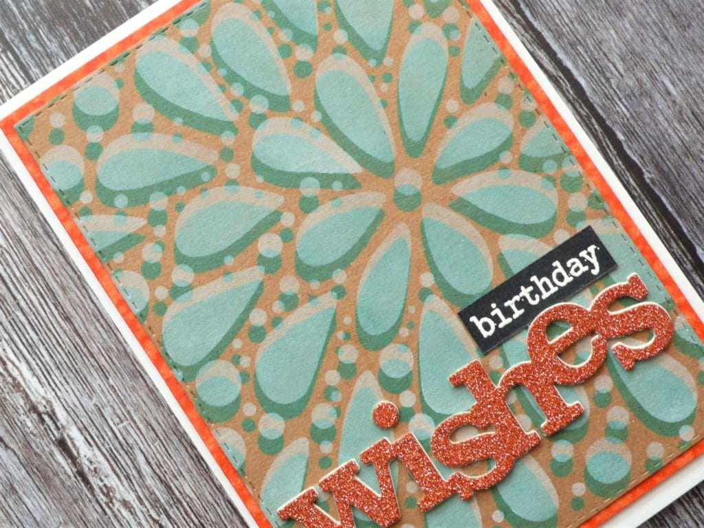 How to create a fun shadowed stenciled card step by step