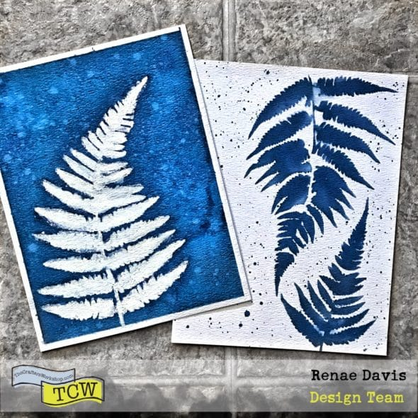 Cyanotype Fern Prints by Renae Davis