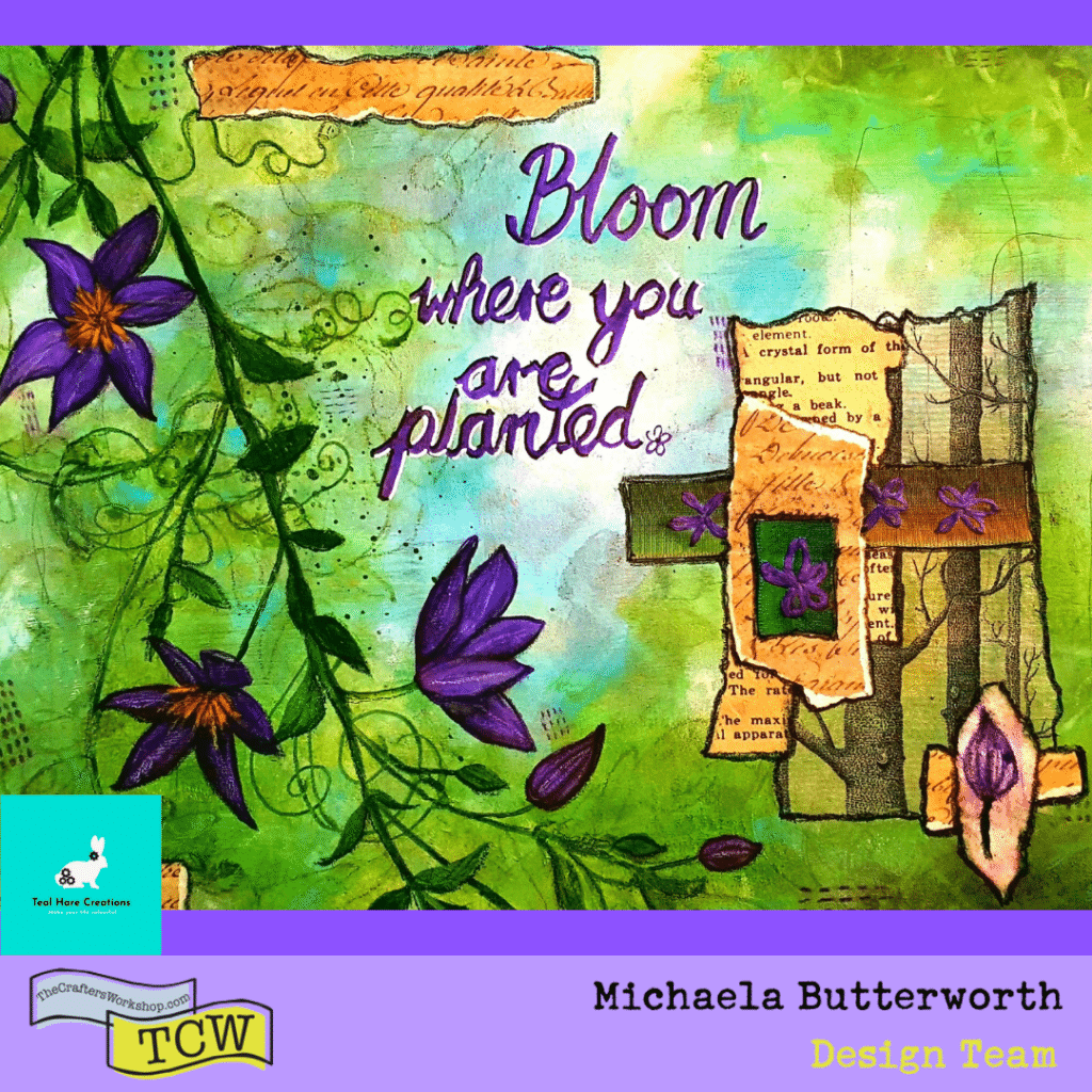 Image of artwork page: Bloom where you are planted by Michaela Butterworth.